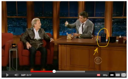 "So my friend was showing me Jim Cummings' interview with Craig Ferguson. Ferguson has a TARDIS on his desk. Most beautiful thing in the world…  ""'cept perhaps Hogwarts."""