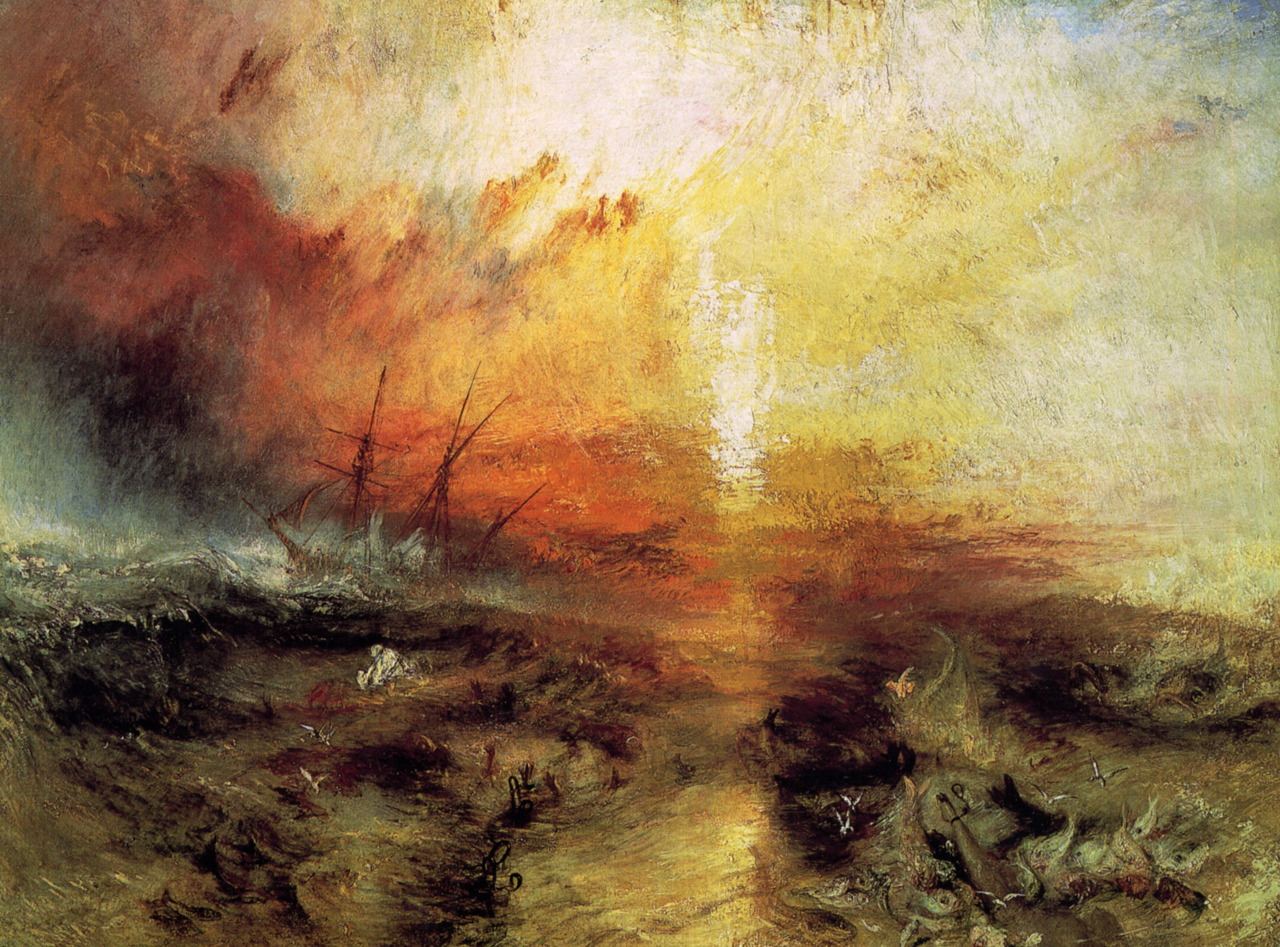 J. M. W. Turner, The Slave Ship Oil on canvas1840