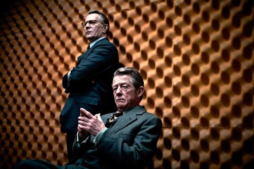 Tinker, Tailor, Soldier, Spy is a brilliant film and an astounding example of the cinema of the closet - or what D.A. Miller refers to as the 'Open Secret'.  It's all there in the monochrome mise-en-scène: the secrets that are known to be known but maintained; the strategic silences, omissions and coded expressions of the spies; the exchange of women as a cover in this homo-social subculture; the secret service as the boundary between the public and private; and the double agent located everywhere and nowhere at the same time.The capture of the duplicitous mole in the film is but a secondary narrative piece in this espionage puzzle. It is the invisible specter of the closet – always hidden yet under surveillance - that is the central, structural conundrum of Tinker, Tailor, Soldier, Spy - its elusive, open secret.*****/5