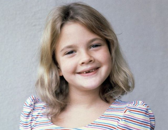 Drew Barrymore as a kid