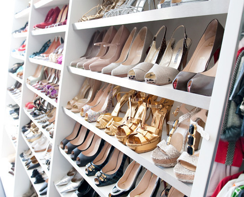 racks of shoe