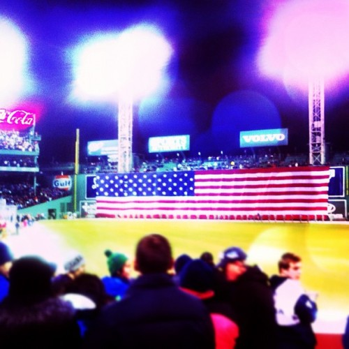 Frozen Fenway! AMERICA! (Taken with Instagram at Fenway Park)