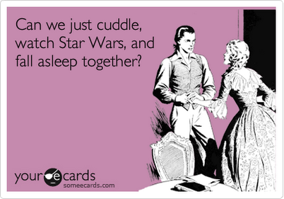 Star Wars + Cuddle + Sleep