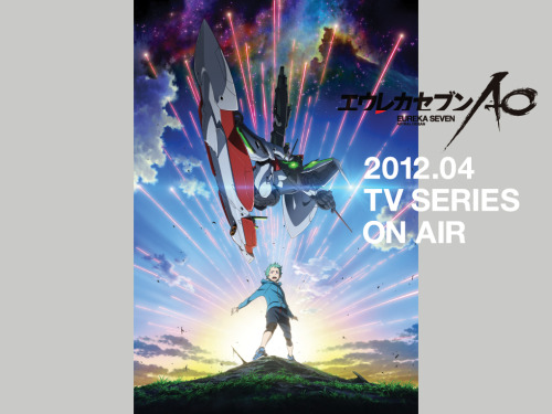 How did I not know about this 'til now?! This is awesome news, Eureka  Seven is a genuinely great Mech anime mixing Gundam level action and  drama with Evangelion level meta-physics and psychology. I can't be the  only one that thinks that kid looks he's the son of Renton and Eureka,  and I wonder if the Nirvash in the new series is the orignal with a new  outer shell or another Nirvash-type LFO?  News Release on Anime News Network Offical Japanese Website Want more in-depth Temporal Flux? Checkout the original blog