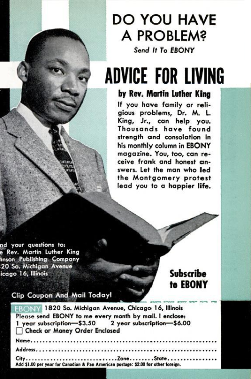 Dr. Martin Luther King Ebony Mag Advice Column