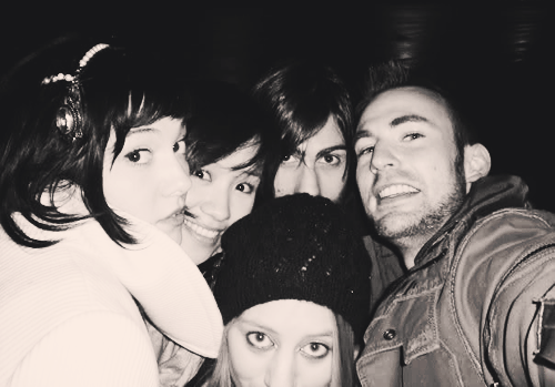 ambushcomics:  Scott Pilgrim cast taken by Chris Evans himself.