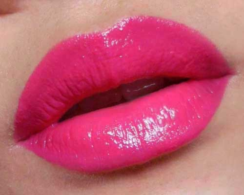 "My List of Best Drugstore Fuchsia Lipsticks: Swatches and Tips for Application  Selection of  drugstore Fuchsia shades Fuchsia is not a daily shade for most people, but there are some occasions when you want a strong lip and red is not always the easiest shade to get right. If you can't seem to get reds to work for your skin tone, or have the sort of face where reds just make you look a little aged or severe, a good alternative to try is a fun, deep, fuchsia pink.  Technically speaking, a fuchsia is a very strong and red pink, maybe not so bright that it's highlighter-pink or so dark as to be called rose, but as we all know, what one person considers fuchsia can be very different from another's. I've chosen something of the middle ground where the shades are quite deep relative to other pinks, but still have a touch of bright blue tones to them.   —- The Shades    Swatches L-to-R: Rimmel 220 Shocking Pink, Sephora R11, NYX Louisiana, L'oreal 288 Intense Fuchsia, and Revlon 330 Fuchsia    I own several of these and the main difference between them are in the base tones (whether they lean more towards a hot red or towards a cooler magenta). Which to wear depends on your skin tone and preference. I am not one of those color nazis who will tell you that if you have ""warm skin"" you should wear ""warm fuchsias"". There's no such rule.  Just note that a warmer red-fuchsia will tend to ""fit in"" better and look less bright, whereas a blue based one will tend to stick out more, regardless of whether you are warm or cool toned. This is simply because a bright blue-pink is not a shade that occurs in nature and so, will provide more contrast against your skin.    —-   Of the shades I own, I probably wear Revlon Color Burst 030 Fuchsia most due to its good, creamy texture and the fact that it does not stain my lips. It's not the most opaque (L'oreal, Sephora, Rimmel and NYX matte are more pigmented) and it's an interesting blend between something with a rather warm red base tone, paired with a faint blue sheen which does not look like noticeable shimmer (thank goodness) but pulls the shade toward the cool side in some lights.   Revlon Colorburst in 030 Fuchsia  —- My latest acquisition is L'oreal's Intense Fuchsia, after I saw it on Gwen Stefani in the latest issue of InStyle magazine. But don't you hate how Photoshop and photography lies? It was nothing like the intensely blue-toned pink shown on the cover image. L'oreal Intense Fuchsia is more of a red-based strawberry fuchsia with a faint hot pink sheen (not too noticeable on the lips). It's not that it isn't a nice shade, but you aren't going to get that glorious electric pink with a noticeable blue sheen that Gwen was sporting. Texture-wise, there is nothing to complain about. I always found Colour Riche lipsticks to be very pigmented and lusciously creamy without being cheap and slippery. But beware that this lipstick stains big-time. This means that over the course of the day, your lipstick will start to look darker and more red, as the dyes color your lips more and more, and it starts to show up beneath the fuchsia. You'll end up with a bright strawberry rose, which is lovely, if that's the shade you're going for. Rimmel Shocking Pink (no lip swatch) is similar to this deep red-pink shade, but is fully matte, and does not contain shimmer, so it will look a tad deeper when applied as there is no sheen or shine whatsoever.  L'oreal Colour Riche in 288 Intense Fuchsia —- NYX Louisiana is not technically a fuchsia by my book, but a lot of people describe it as a hot pink on review sites, so I thought I'd include it for comparison purposes, just to show you why I don't consider it so.  Compared to the other shades in the swatch image above, Louisiana is a lamb among wolves. It's softer, warmer, and has more noticeable deep-peach undertones although it's by no means a pale shade. If you're new to hot pinks or are afraid of going too over the top for work or school, this is a safe shade that will still stand out without being too electric.  The blend of pink, red and peach is also quite a flattering shade for most skin tones. Beware though, that the texture is the typical NYX texture which is not going to feel very rich and luscious. It's waxy and slippery, with a plastic taste, but at least for this particular shade, it doesn't look as cheap as it feels.  NYX Louisiana Round lipstick —- This brings me to one of my cooler fuchsias. Sephora's line of lipsticks are hits and misses for me. (Actually, more hits than misses.) It might not be considered a drugstore for most, but I included it as the price range is similar.  R11 (the case does not include the name… it's only labeled on the plastic seal, which is silly as you throw it out…) is a deep magenta pink which is probably closest to a true fuchsia tone. The coverage is opaque, the texture is very much like a high end lipstick, and the finish is creamy and moisturising. There is no shimmer whatsoever, so it has a true creme* finish. *It drives me nuts when people call a creme finish ""matte"". ""Matte"" means a flat, powdery finish with no gloss. ""Creme"" means no shimmer/frost. But I digress. It also does not stain, so if you like cool toned shades, I highly recommend this.  Sephora Rouge R11 - creme, not matte! —- I had to throw in an honorable mention which I did not include in the swatches when I was taking the pictures.   I'm not sure why I forgot it when I was taking pictures in preparation for this post the day before.  NYX matte lipstick in Sweet Pink is another true cool-toned magenta pink, even more blue than Sephora R11, but not electric bright. It has a wonderful creamy-matte finish and is one of my favorite blue-based shades to wear, as it makes your skin glow and your teeth look whiter. If you're drawn to but still afraid of shades like Shocking Pink and Candy Yum Yum, you'll be happy to know that this shade is nowhere near as bright. And the opaque matte texture means it stays on very well. The only minus to this affordable-but-expensive-looking shade is the scent, but hey, that's a small problem for a good lipstick.  NYX Sweet Pink Matte Lipstick - now THIS is a matte* —- Application Tips: The problem with wearing any bright lipstick for hours is the feathering and/or fading. It always look gorgeous when just applied, but after 3 hours of talking, drinking, or general wear and tear from pressing your lips together, etc, you will find the edges of the lipstick have smeared or feathered into an unflattering mess.  Matte formulas can minimize the problem but they may not eliminate it unless the finish is very dry. And not everybody wants to wear a full matte lip. This is what I do to keep everything under control when I wear a fuchsia lip (demo using Revlon Fuchsia) out for a full 12-hour day: —- Step 1: Apply a lip primer over the lip line (I use POP Beauty's Lip Magnet, which is a very sheer beige that does not change the color of lipsticks), and rub with fingers to even out and remove access. —- Step 2: Apply lipstick to the lip area, without going beyond your lip line.   —- Step 3: Gently kiss a sheet of tissue to remove the moisture and some of the excess pigments.  —- Step 4: Use a fuchsia lip pencil (NYX Fuchsia is great and affordable, but if you're particular about brands, MAC's Chromagraphic Pencil in Process Magenta is a great liner for most fuchsia shades), and lightly run in windshield wiper motions along your lip line. I say windshield wiper motion because you are not going to get a perfect line in a single stroke. You want to almost fill in the lip line with your pencil, so you create a thicker barrier around the edge of your lips. NOTE: You can choose to fill in your entire lip with the pencil first, but I don't like to weigh down the color and texture of my lips that way, so I only fill in the outer edges.  —- Step 4: Reapply your lipstick as layering will intensify the color and shine, and lock it in. Then with your finger, very lightly and gently dab along the outer edges of your lip line to remove any excess emollients. If you end up removing too much product, go back in and replace it with the fuchsia pencil. Not the lipstick.  Remember; the key is to keep the outer-most edges matte so the lipstick does not bleed over the course of the day. Dabbing just at the edges will help you to achieve that while keeping most of the lip looking glossy and moist.  —- For a day-appropriate look, I like to pair it with very neutral eyes and a soft pink cheek to keep the whole face reined in. Products used on the eyes and cheeks in the look below: MAC Cream Color Base in Take Root over lids MAC Metal X Cream Shadow in Palladium around inner tear duct area Bourjois Volumizer mascara in black MAC Well Dressed blush"
