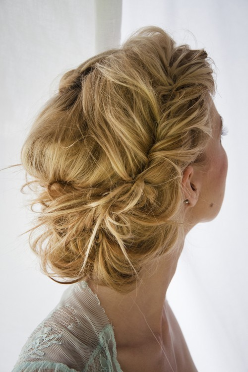 Bridesmaid hair for the wedding