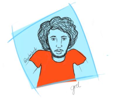 Ahí está el primero, no soy muy buena con los retratos and stuff, pero ahí vamos!. Este es de Jorge (@antonjorch) y bueno espero le guste. También es mi primer sketch de la cuestión esta de #OneSketchADay Y pues si quieren ayudarme a hacer más dibus ya saben por donde buscarme, anden que es divertido!