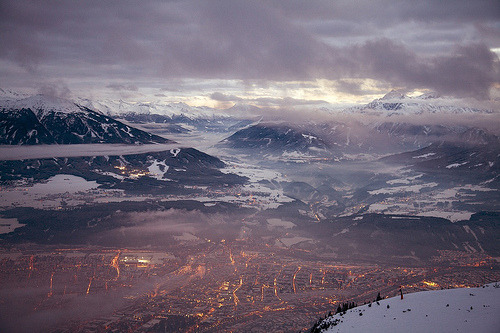mountainish:  Innsbruck in the alps (by AaronPhelps)