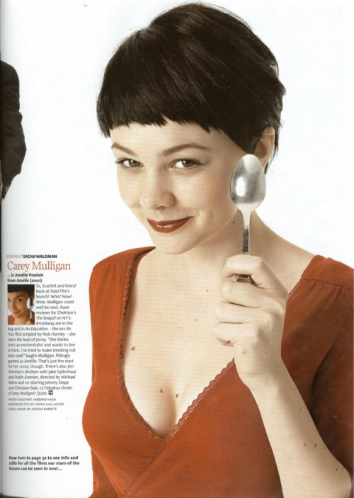 Carey Mulligan as Audrey Tautou in Amelie photographed by Sacha Waldman