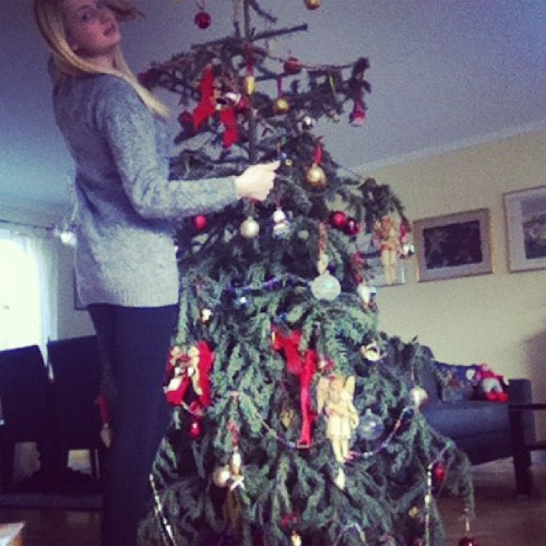 Time totake down the #christmas #tree all #alone #girl#swedish#russian#loner#blonde#natural#real#decoration#over  (Taken with instagram)
