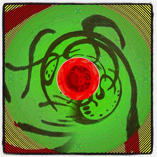 #decim8 meets #tinyplanet meets an #old #drawing (Taken with instagram)