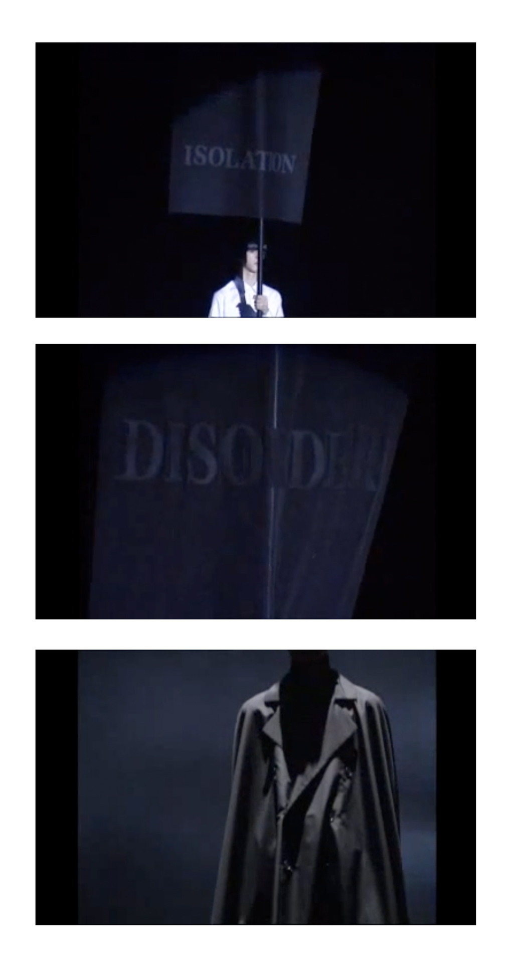 raf simons' disorder-incubation-isolation collection 1999. he's the best. http://www.youtube.com/watch?v=xELz-DFEIwU