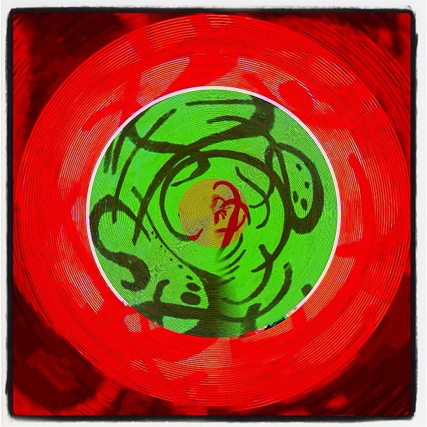 #decim8 meets #tinyplanet and an #old #drawing  (Taken with instagram)