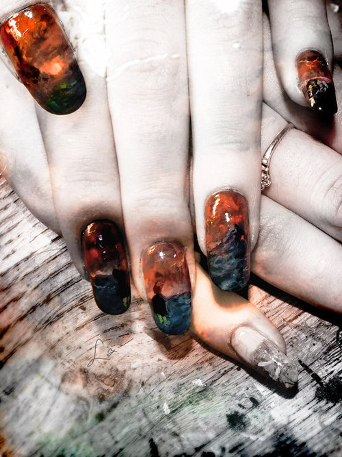 - paint (nail polish art)