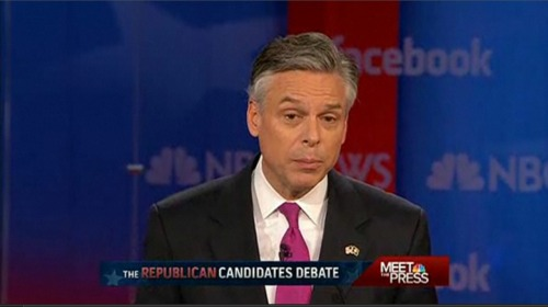 Huntsman wants to bring term limits to Congress, to help end the never-ending cycle of politicians becoming lobbyists. This should be something everyone on this stage should support. Rick Perry goes further: He suggests cutting salaries and making members of Congress have day jobs — with Congress being a part-time deal. Which sounds a bit like pandering.