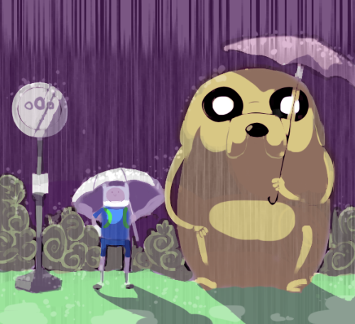 isotic:  Adventure by *ShwigityShwonShwei  Totoro spoof. Yes.