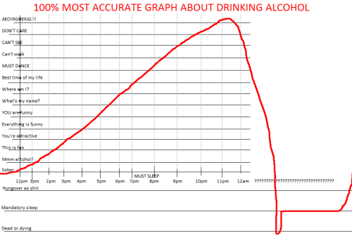 100% Accurate Graph About Drinking Alcohol