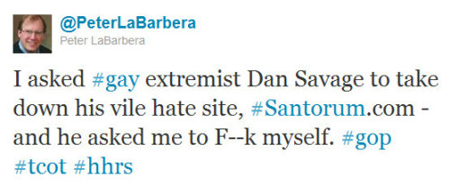 "Tweet Of The Week: Peter ""Porno"" LaBarbera (@PeterLaBarbera)"