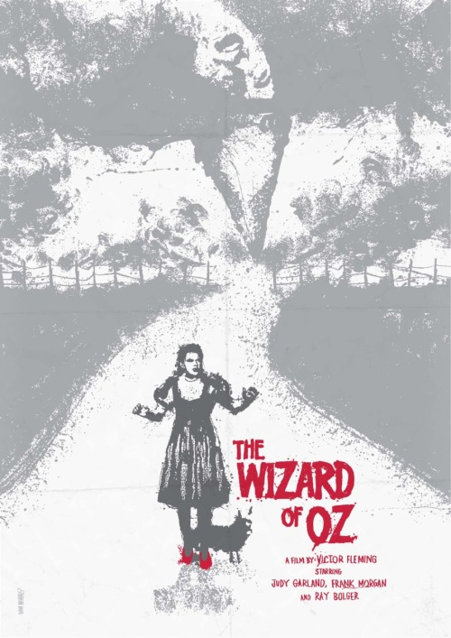 minimalmovieposters:  The Wizard of Oz by Daniel Norris  This poster is all kinds of amazing