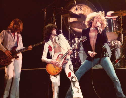 LED ZEPPELIN at MADISON SQUARE GARDEN 1977 My first concert photograph…taken with a Pentax Spotmatic ©www.julienphotography.com