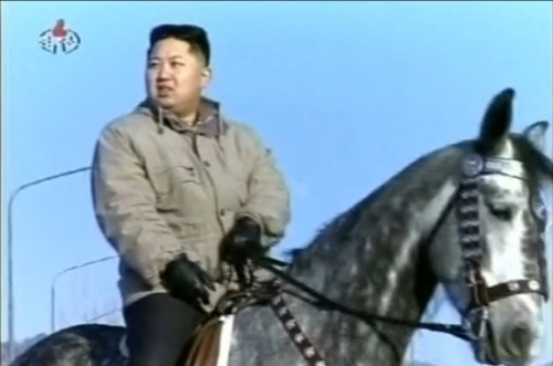 Happy birthday, Kim Jong-Un! The new North Korean leader's birthday, his first as Supreme Leader of North Korea, was celebrated by the country's propaganda machine thanks to a documentary that aired on state television. The video reveals him riding a horse, hanging at an amusement park, and  … most importantly, suggesting way back in 2009 that he'd be willing to wage war with South Korea and the U.S. if they shot down a North Korean rocket. In other words, bro knows a thing or two about threats.