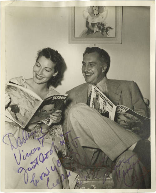 Ava Gardner and Vincent Price