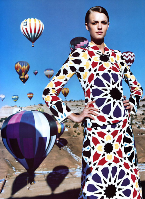 """The Bright Stuff"" Jacquetta Wheeler by Greg Kadel for Harper's Bazaar US February 2002"