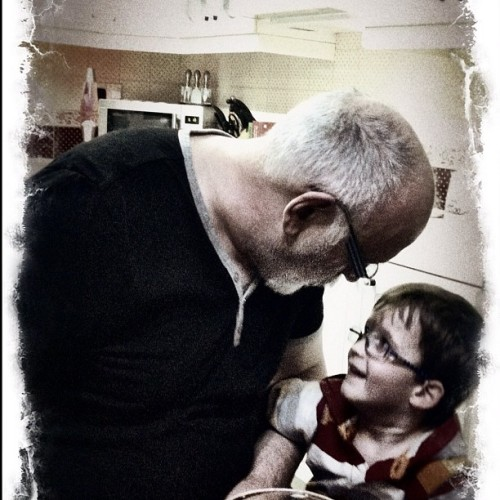 Ethan & Grandpa (Taken with instagram)