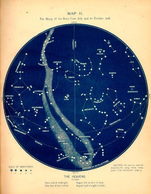 Summer constellations map.