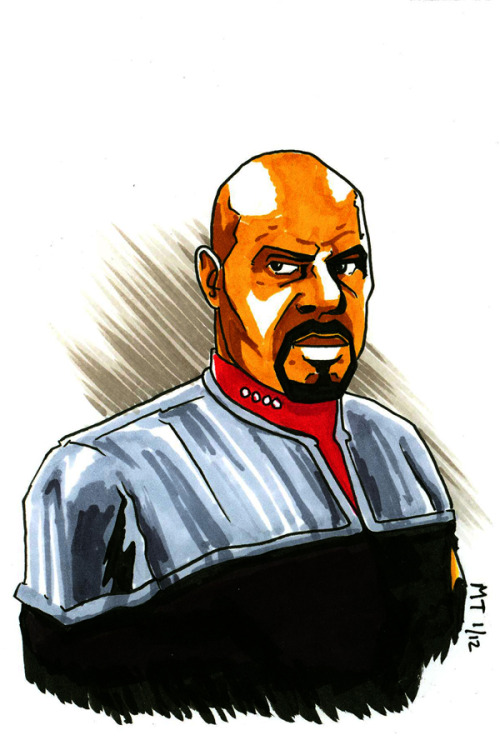 (via Captain Benjamin Lafayette Sisko by ~Krayola-Kidd on deviantART)