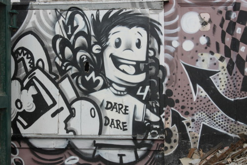 Dare Dare! Detroit - Graffiti - part of the Imagination Station on 14th St. across from the train station.