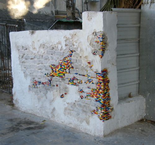 lego wall via. @thefancy