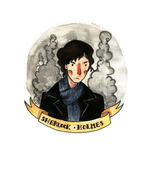beccaandthebox:  This is the first in a little series of Sherlock portraits in celebration of the fact Sherlock is back on. I love the BBC's adaptation, it's just amazing!