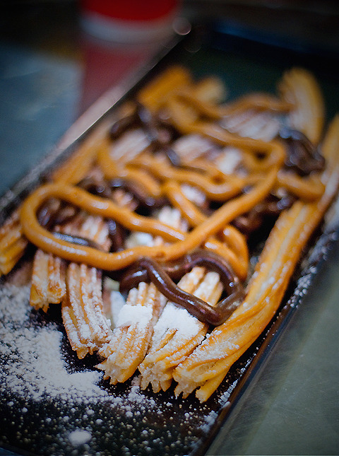 Peanut Butter & Chocolate Jizzed Churros!
