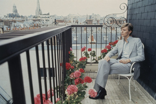"David Bowie in Paris (1977).  ""I'm an instant star. Just add water and stir."""