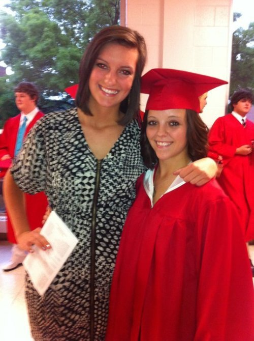 me and my best friend at my graduation :)