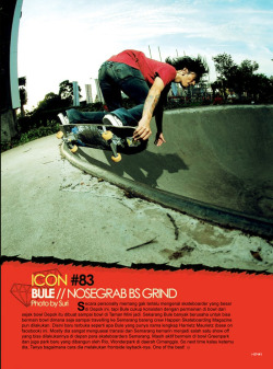 "Harrietz ""bule"" on happen skateboarding magazine #89 ICONS 2011"