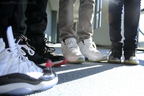 goodfellowdavid:  Concords x Breds x Columbias x Spacejams We have people already changing the source, why can't you just let me get the credit for my own picture? Damn.