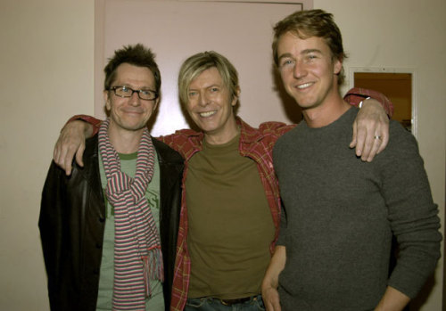 awesomepeoplehangingouttogether:  Gary Oldman, David Bowie and Edward Norton
