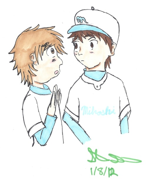 Mihashi and Kanou for caphawks!