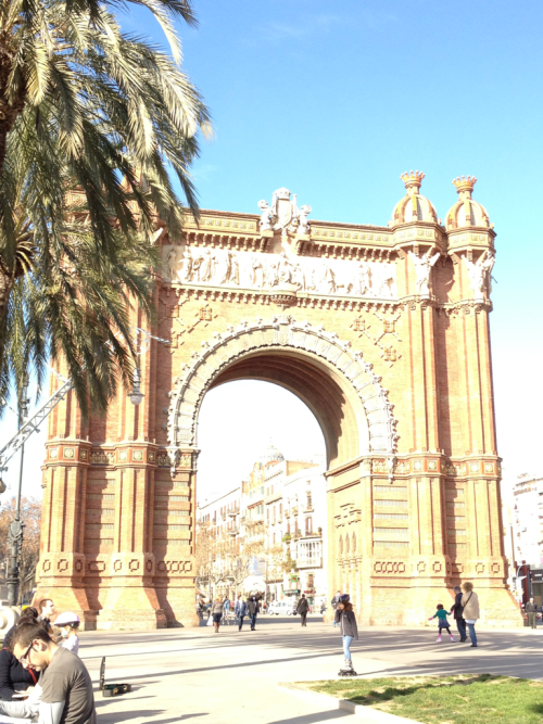 Pic of the day- Arch de Triumph, Barcelona. I took a million pics from every angle. Amazing.