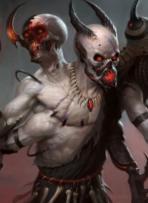3 Headed Demon - detail by ~namesjames