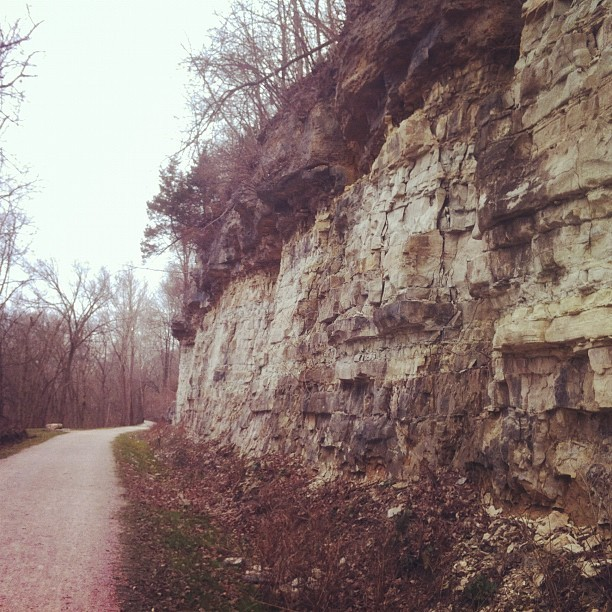 Bluff on trail from todays walk. (Taken with instagram)