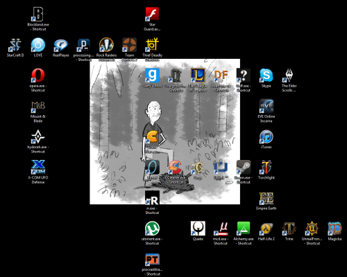 Lord Tim's desktop is full of scrappbles….
