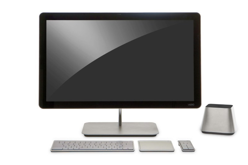 Vizio's entry into the PC market begins with this all-in-one beauty. Some will say it's an iMac knockoff, but I disagree. It's reminiscent of an Apple design because it's good, not because it's a ripoff like Samsung's shameless counterfeits. If the end product is affordable, works well and is built with the kind of quality the marketing photo suggests, the PC market will be greatly improved for it, and PC makers will have another company to fear. Why hasn't Sony evolved the Vaio line in this direction?