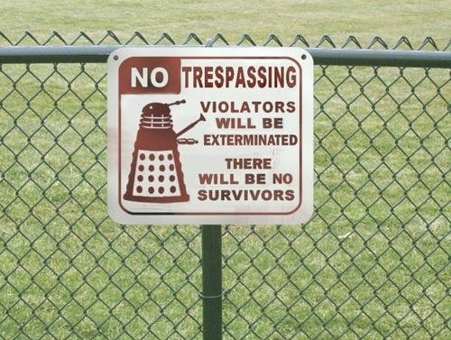 doctorwho:  No Tresspassing