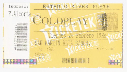 Coldplay 26 de febrero 2010Estadio River Plate