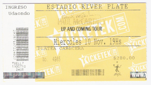 Paul McCartney 10 de noviembre 2010Estadio River Plate
